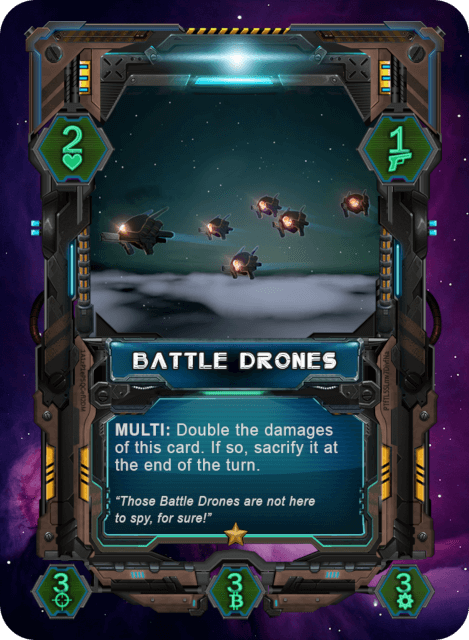 Battle Drones Card